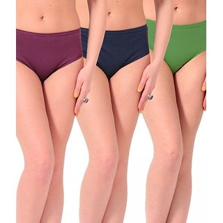 Female Cotton Plain Panty (Pack of 3)