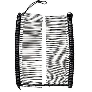 HairZing Cord S-T-R-E-T-C-H Banana Comb, Hair Accessory Perfect for Easy  Ponytail, UpDo or Faux Hawk, Black, Large
