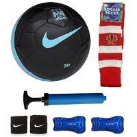 Shoppers Manchestor City Black/Blue Football (Size-5) Combo
