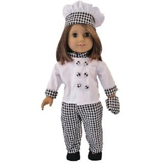 "Chefs Outfit: Hat, Jacket, Pants,Shoes, Oven Mitt Fits 18"" American Girl® Doll Clothes & Accessorie"