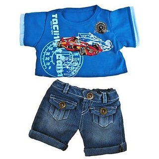 """Cool Racecar"" Outfit Outfit Fits Most 14"" 18"" Build A Bear, Vermont Teddy Bears, And Make Your Own Stuffed Animals"