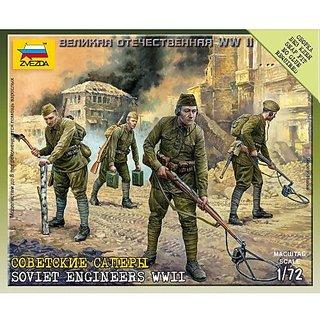 Zvezda Models 1/72 Soviet Engineers WWII (8 Figures With Equipment)