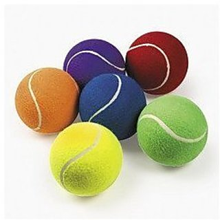 4 Large 5h Tennis Balls Come In Assorted Colors