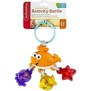 Infantino Link and Jingle Activity Rattle - Whale