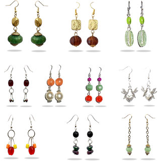 BEADWORKS - MULTIPLE BEAD EARRINGS (Set of 10 pair)