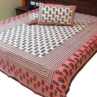 Jaipuri Block Print Cotton Double Bed Sheet