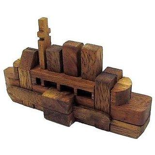 The Titanic Kumiki Brain Teaser Wooden Puzzle