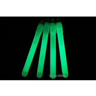 50 4 Inch 10mm Green Glow Stick Necklace W/Lanyards