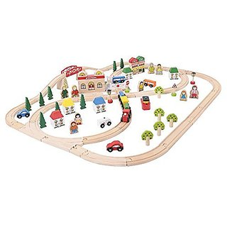 Bigjigs Rail BJT015 Town and Country Train Set