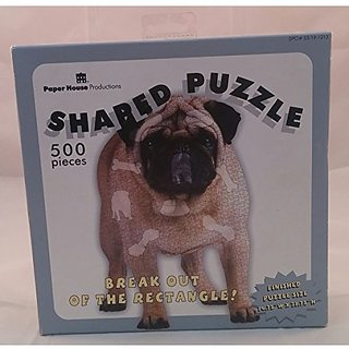 Pug Shaped Jigsaw Puzzle 500 Pieces
