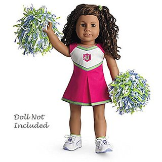 American Girl - Campus Cheer Gear Cheerleader Outfit + Charm for Doll - MY AG 2013