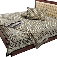 Jaipuri Pure Cotton Double Bedsheet N Duvet C