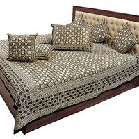 Jaipuri Pure Cotton Double Bedsheet N Cushion