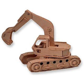 3 D Wooden Puzzle Excavator Model Affordable Gift For Your Little One! Item #Dchi Wpz P043