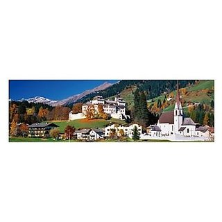 Colorluxe Panoramic Val Ridanna, Castel Wolfsthurn, Italy 750 Piece Puzzle (37 Inches Long)