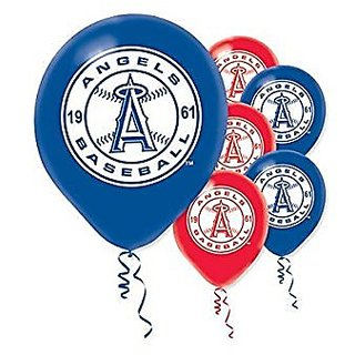Angels Printed Latex Balloons Package of 6