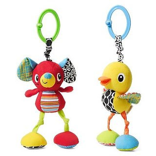 Infantino Mouse or Duck Jittery Pal Toy, Styles May Vary (Discontinued by Manufacturer)