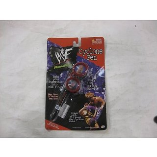 WWF PowerPenz Cyclone Pen With 2 Cyclone Disks 1999