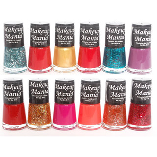 Makeup Mania Exclusive Nail Polish Set Of 12 Pcs (Multicolor Set # 80)