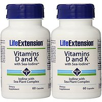Life Extension Vitamins D And K With Sea-Iodine 60 Caps