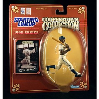 Buck Leonard / Homestead Grays 1998 Mlb Cooperstown Collection Starting Lineup Action Figure & Exclusive Trading Card