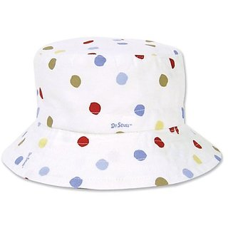 Trend Lab Dr. Seuss Bucket Hat, One Fish, Two Fish, Red Fish, Blue Fish, 6 Months
