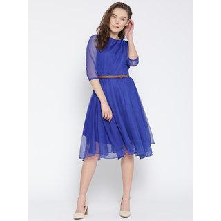 Arina Plain Two Tone Mini Dress Blue Daftar Update Harga Terbaru Source Klick2Style Stylish Blue