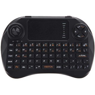 Tech Gear 2.4G Wireless Mini Fly Air Keyboard Mouse Touchpad Remote(Blcak)