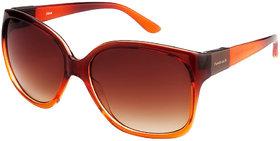 Fastrack P244BR1F Brown UV Protection Wayfarer Girl Sunglasses