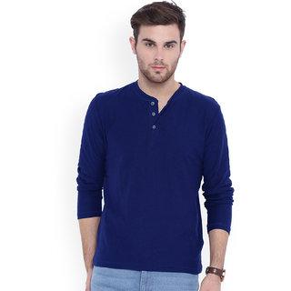 Gallop Men's Blue Henley T-Shirt