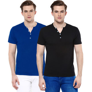 Gallop Men's Multicolor Henley T-Shirt