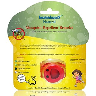 healthbuddy natural mosquito repellent bracelet (red)