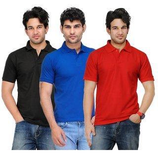 Akaas Men's Multicolor Polo Collar T-Shirt