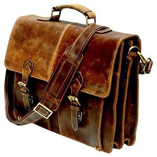 Vintage Sora messenger brown laptop eco-friendly hunter leather bags briefcase