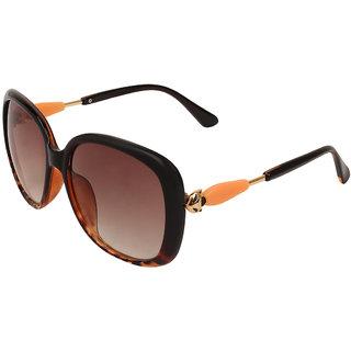 Zyaden Brown Oversized Sunglasses Women 392