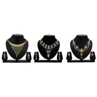 Dealseven Fashion Presents Golden Color Alloy Jewelery Set.