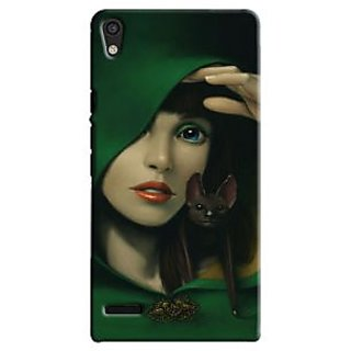 Snooky Digital Print Hard Back Case Cover For Huawei Ascend P6 Td12422