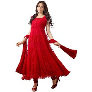 Brasso Embroidered Semi-stitched Salwar Suit Dupatta Material