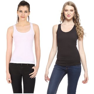 Akaas Multicolor Cotton Blend Solid Camisole