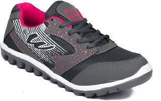 Asian Women's Pink & Gray Sports Shoes