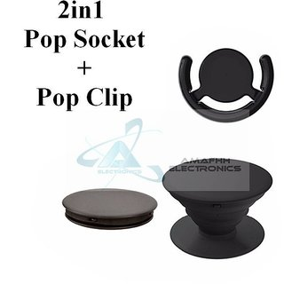 Frappel2in1 YELLOW Universal Pop Socket + Pop Clip Holder Grip Mount for Mobile