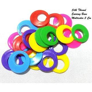 Earring base chandbali for silk thread earring jhumka making multicolor