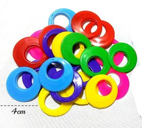 Shopindiakraft earring base chandbali for earring making  silk thread wrapping multicolor, 30 Pcs