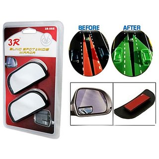 3R Blind Spot  wide Rectangle Shape Convex Side and Rear View Mirror - Original