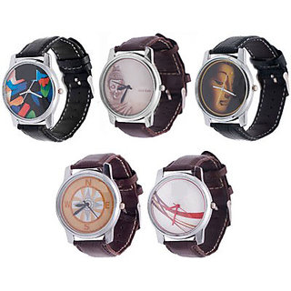 Combo of 3 Graphic Watches + 2 Analog Dial Wrist Watches
