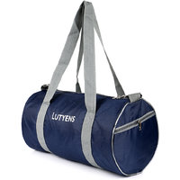 Lutyen's Polyester Blue Grey Gym Bags (19 Liters) (Lutyens_200)