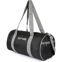 Lutyens Polyester Black Grey Gym Bags (19 Liters) (Lutyens_201)
