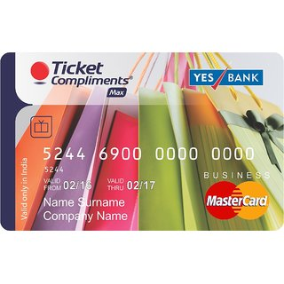 Ticket Compliments Max Gift Card Worth Rs. 2500