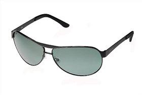 Fastrack M035GR5P Green Polarized Aviator Unisex Sunglasses