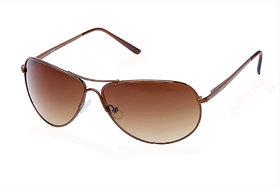 Fastrack M050BR5 Brown UV Protection Aviator Unisex Sunglasses